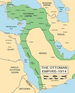 Ottoman Empire map 1914