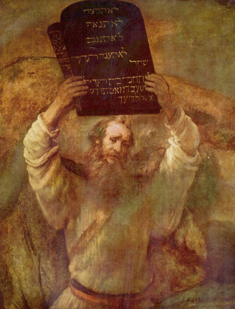 Moses with the Tablets of the Law painting by Rembrandt