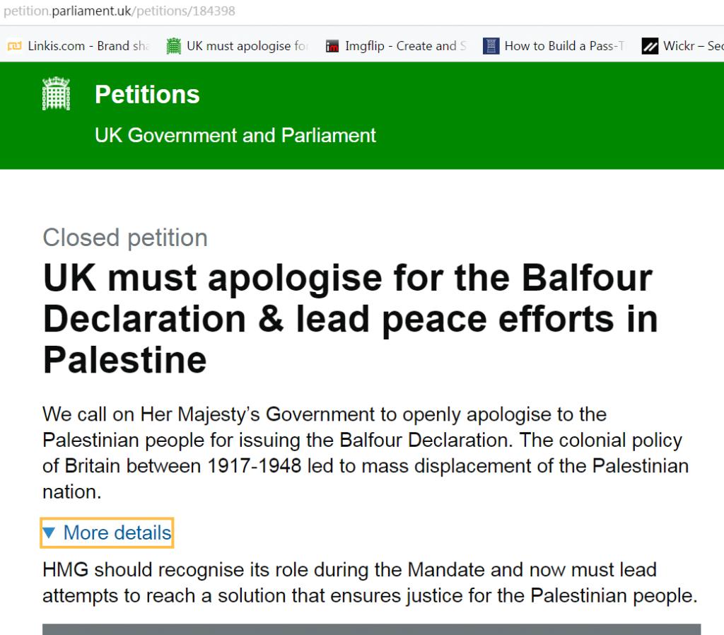 UK petition-Balfour_Apology1