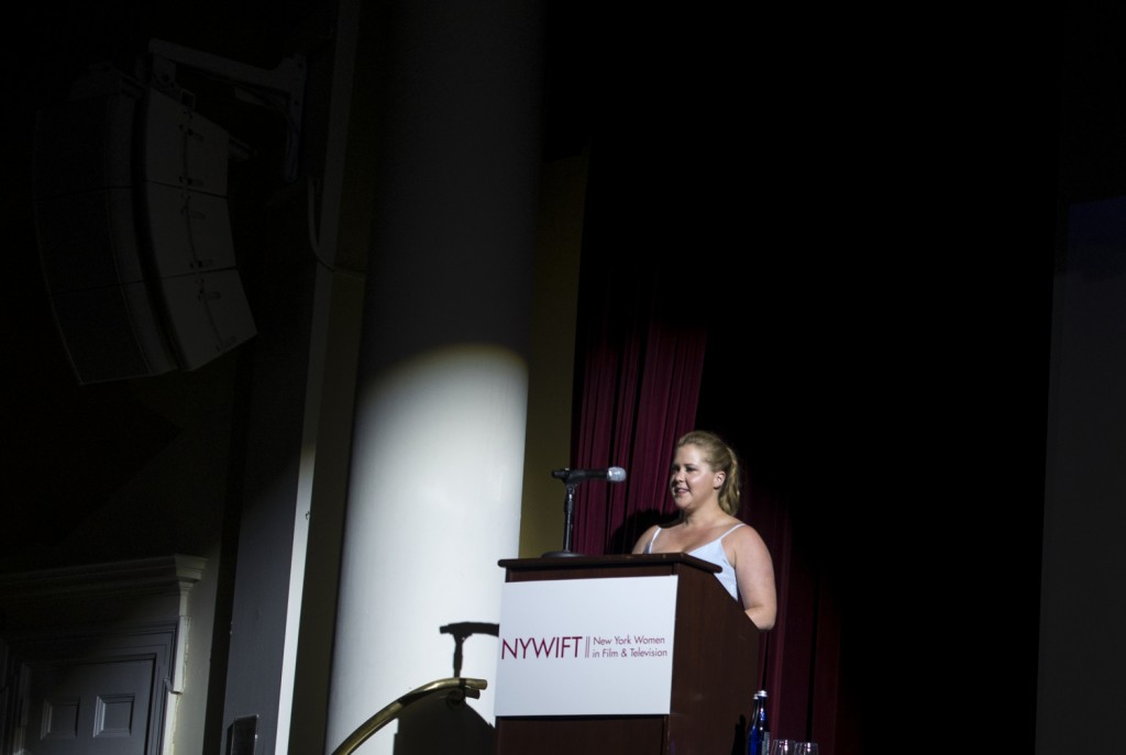 Comedienne Amy Schumer at the NYWIFT Event