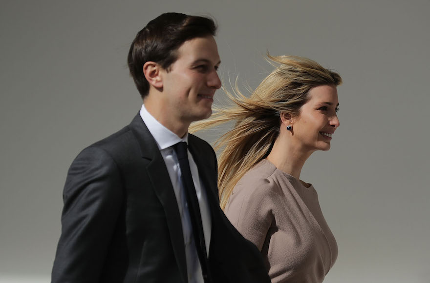 Jared Kushner and Ivanka Trump walking down the West Wing Colonnade, Feb. 10, 2017. (Chip Somodevilla/Getty Images)