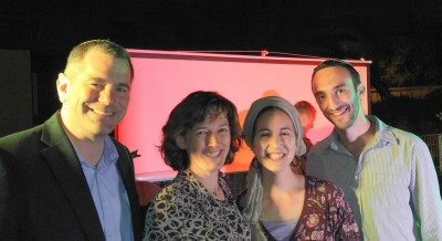 "ATARA founders Kory & Yifat Bardash with ""Yonina""."