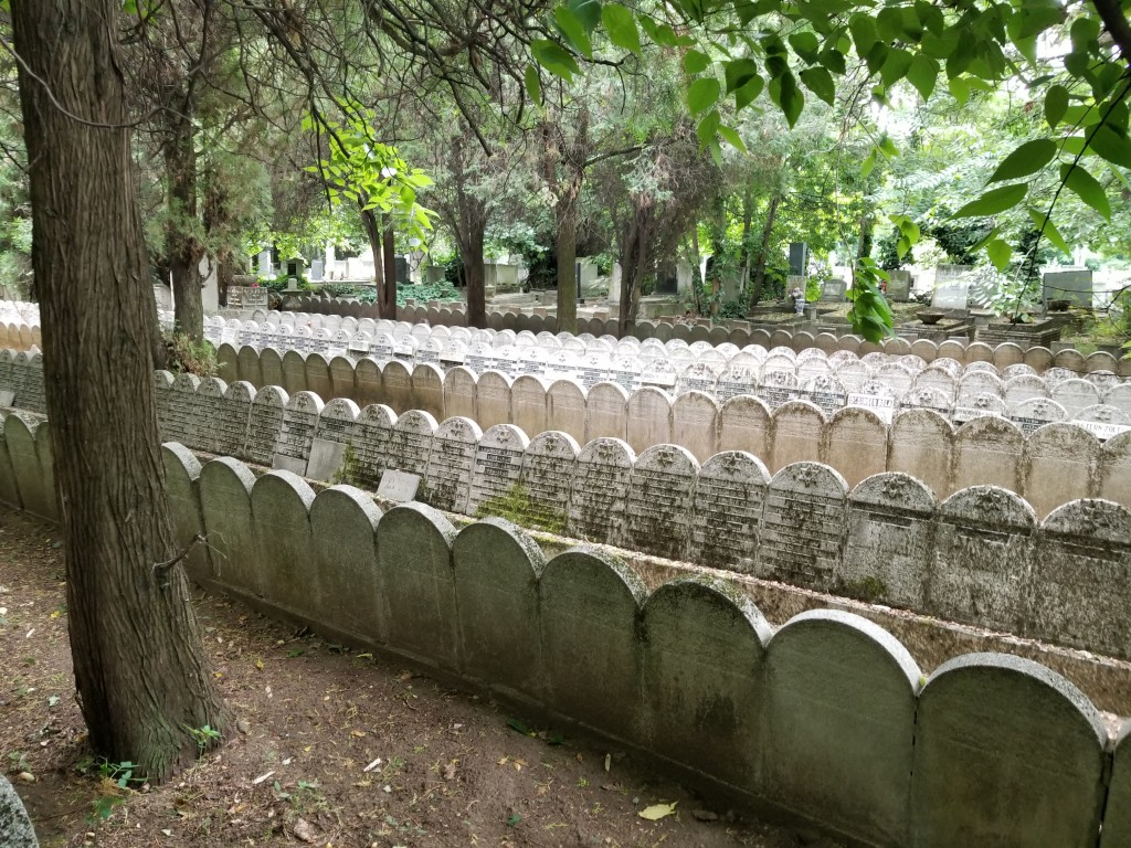Tomb stones belonging to Hungarians murdered in the Holocaust. There were no bodies, just tomb stones.