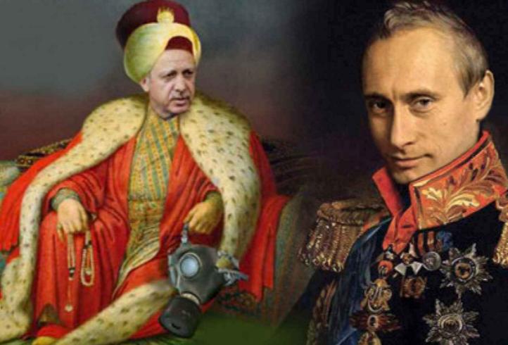 Czar-Putin-Sultan-Erdogan