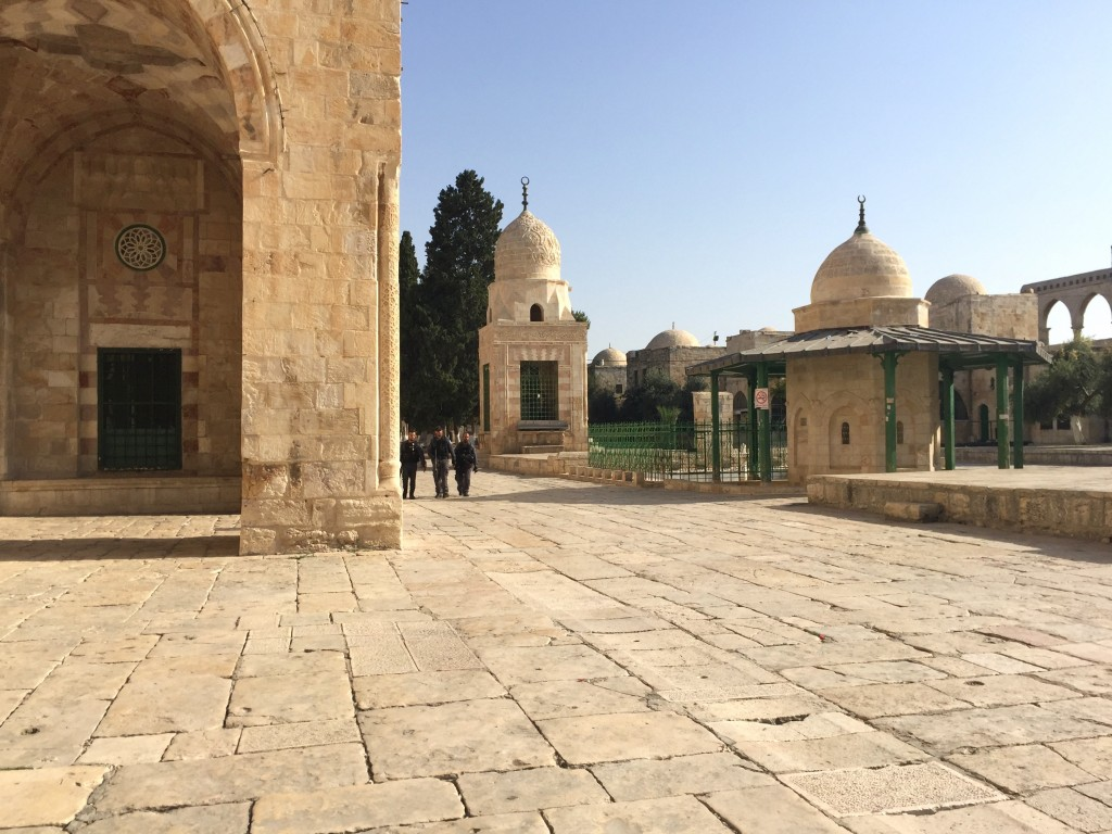 Absolute tranquility on Temple Mount during Muslim boycott. Photo by: Judy Lash Balint