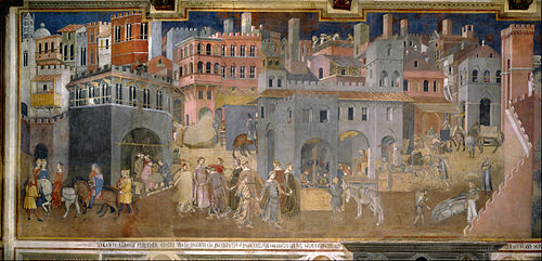 Ambrozio Lorenzetti's 14th-century fresco, The Effects of Good Government, shows the harmony and order, symbolized in part by the ring of dancing young women, that exist in a well-governed city
