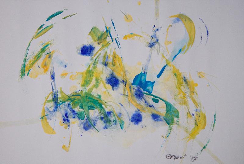 ERWÉ, 'Movement',acryl,45x30cm,23-8-2017