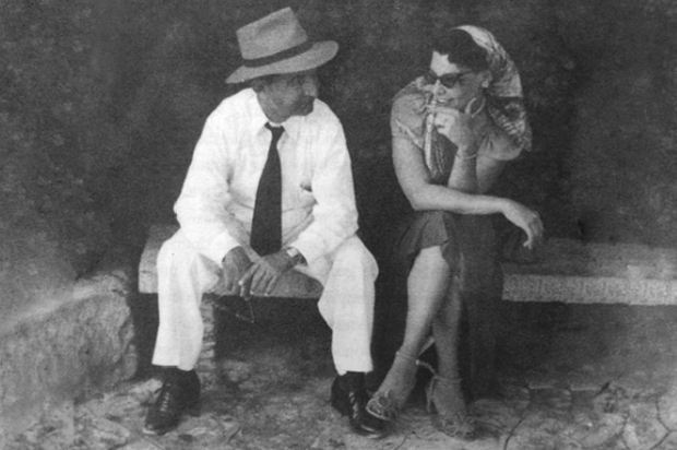 """Costa Rican President José """"Pepe"""" Figueres and his wife, Henrietta Boggs, photographed during a visit to Israel sometime in the 1950s. Photo courtesy of Andrea Kalin"""