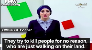 "PA TV lies to kids: ""barbaric"" Israel's goal is to kill kids, so don't walk alone. Official PA TV, Nov. 13, 2015. Source PMW"