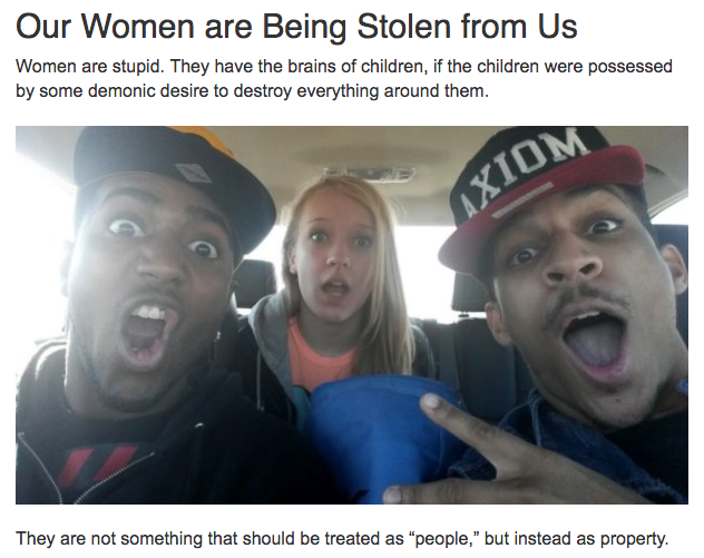 The Daily Stormer is filled with similar stories and images.
