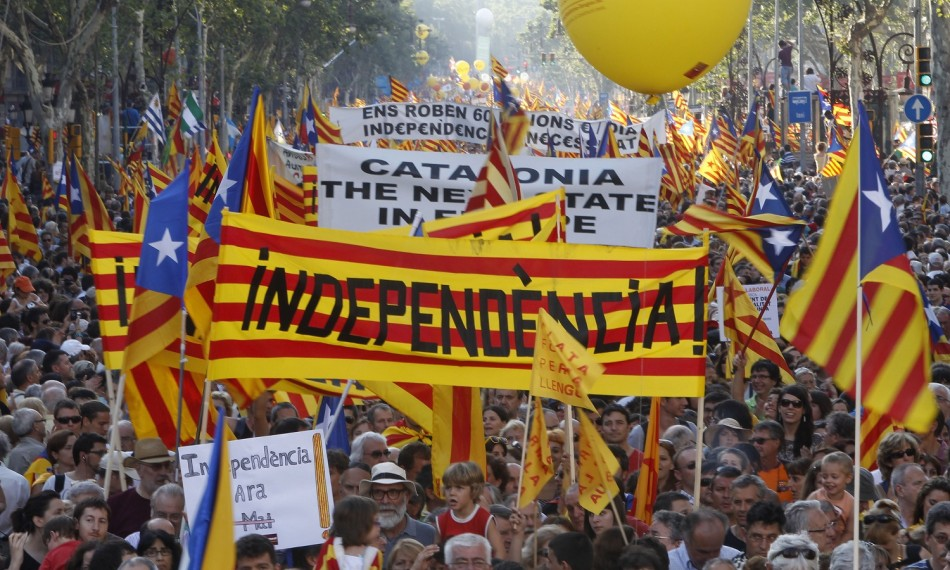 Rallies in Support of Catalan Independence Referendum