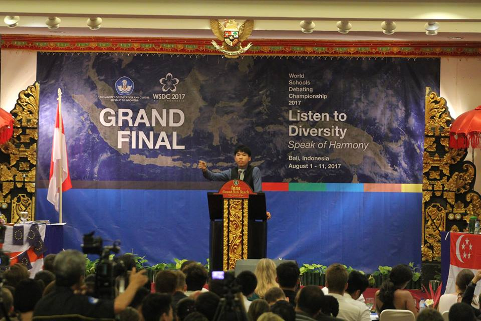 Grand final of the 2017 World Schools Debating Championships in Bali, Indonesia