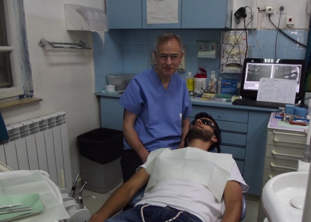 Edward Doff in clinic