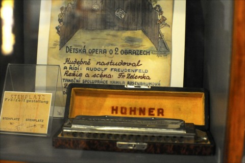 This Hohner harmonica is one of many artifacts preserved from the Theresienstadt Ghetto and now on display at Israel's Bet Terezin. Photo: Larry Luxner