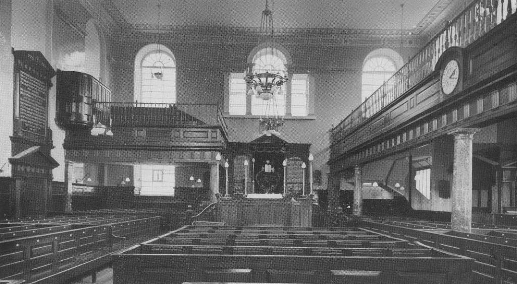 Interior of Machzike Hadath Synagogue, London c.1935