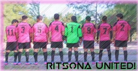Pictured: Ritsona United FC, founded by Bassam Omar alongside La Asociación Amigos de Ritsona.