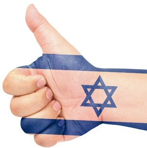 13565814 - israel flag on thumb up gesture like icon