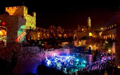Performances at the Tower of David, timesofisrael.com
