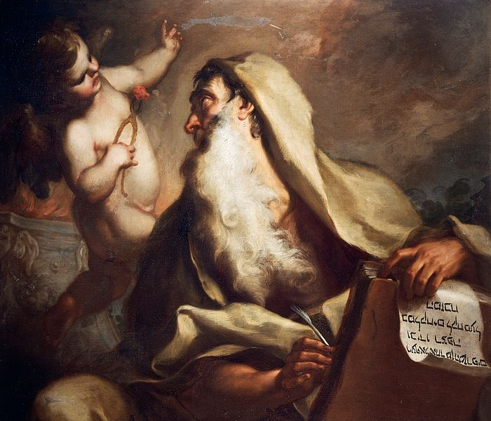 oil painting of Prophet Isaiah by Antonio Balestra (1666-1740) currently at the Castelvecchio Museum