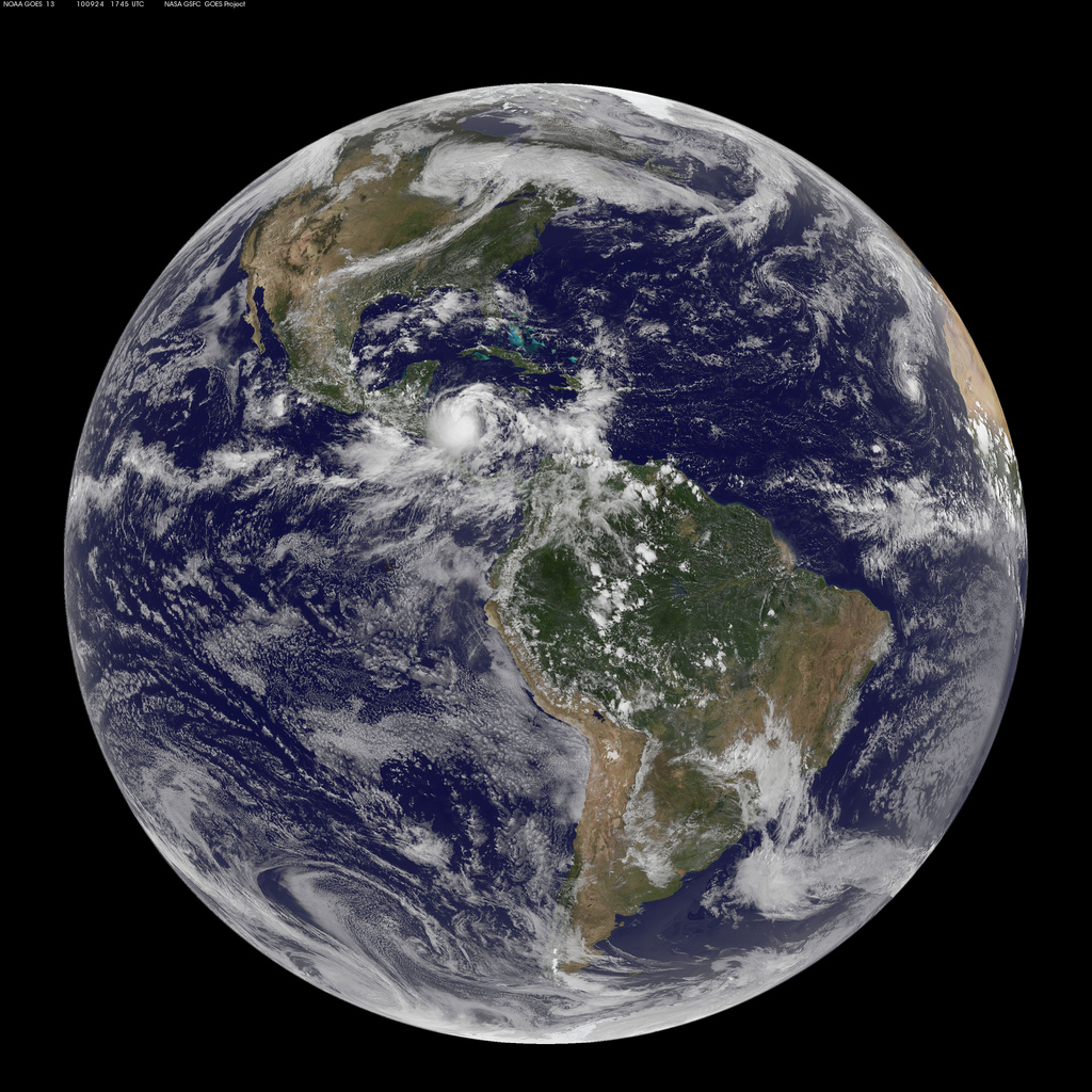 satellite image of planet earth