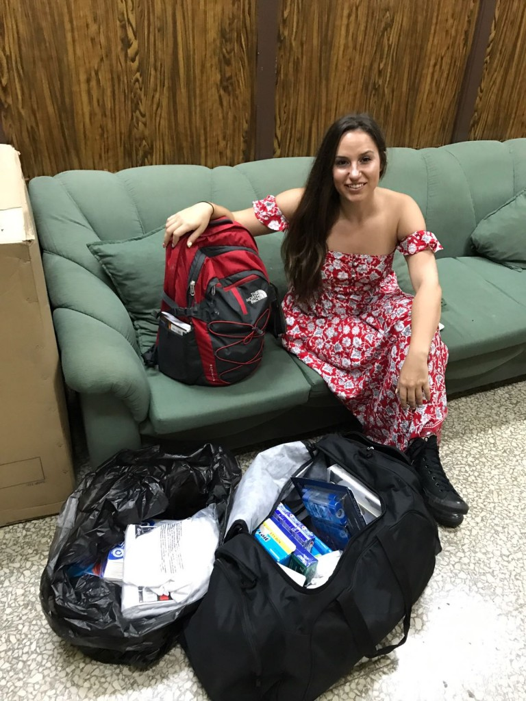 Here I am pictured bringing much needed supplies for the Jewish Community. Copyright Rayna Rose Exelbierd