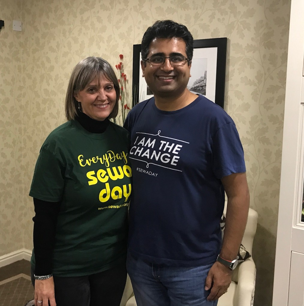 Manoj Ladwa with Mitzvah Day founder Laura Marks