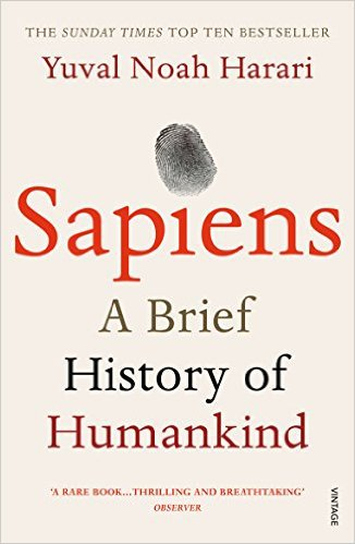 Cover image of Sapiens by Yuval Harari