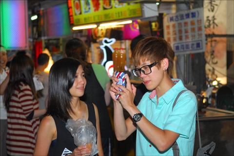 Taipei's Raohe Street Night Market is a popular teenage hangout. Photo: Larry Luxner