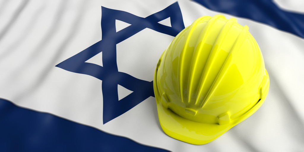 bigstock-Yellow-Helmet-Over-Israel-Flag-202484440