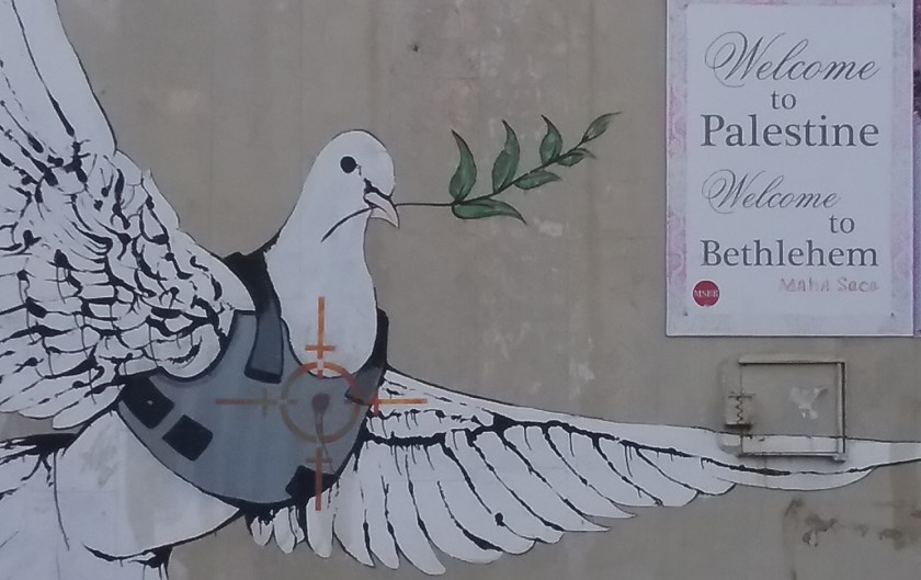 A collection of messages on The Wall in Bethlehem. Photo: J. Quirk