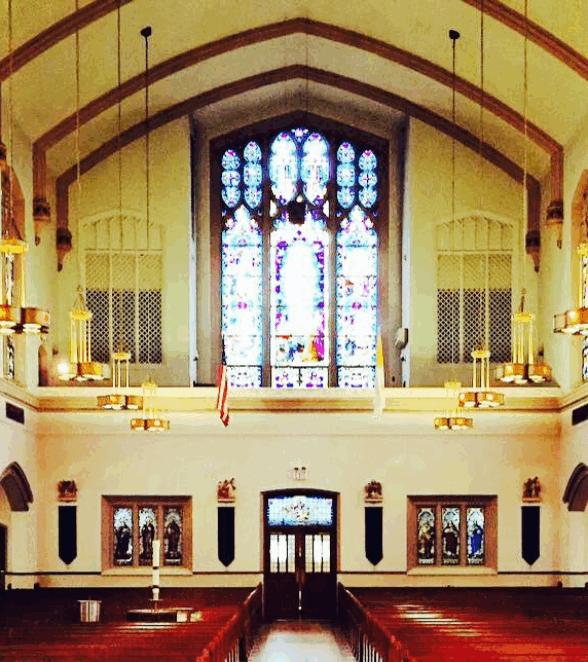 photo of interior St. Francis Church Ridgefield Park NJ