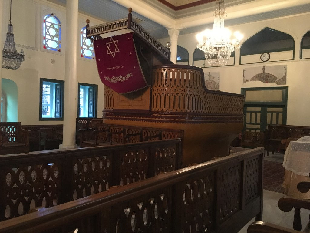 The Ahrida Synagogue's unique bimah