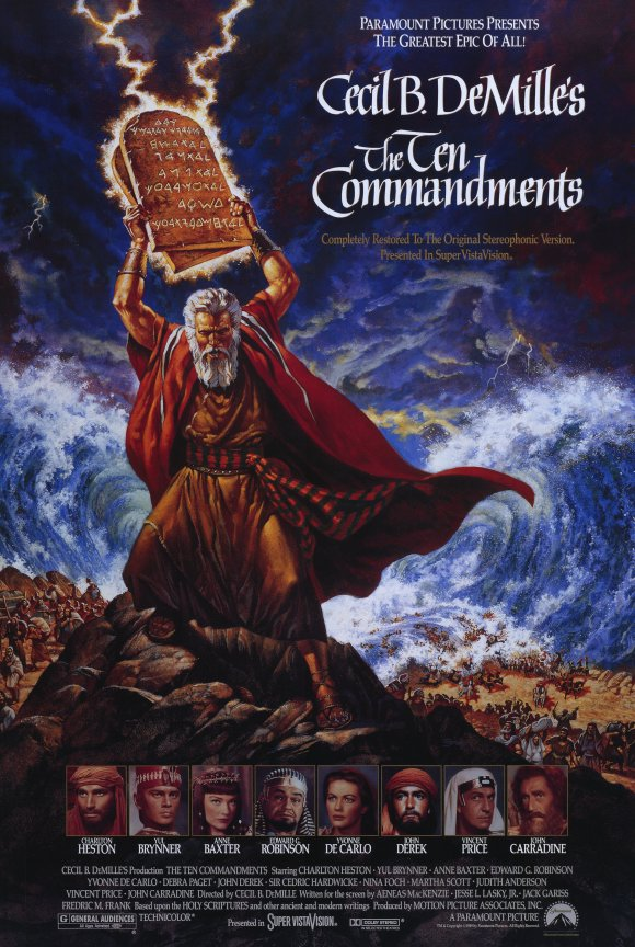 Movie poster from Cecil B. DeMille's The Ten Commandments