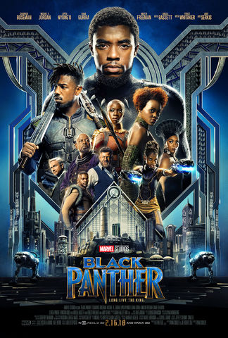 """""""Black Panther"""" movie publicity poster"""
