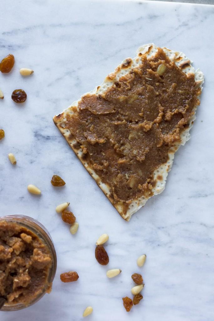 nut-free charoset on matzah