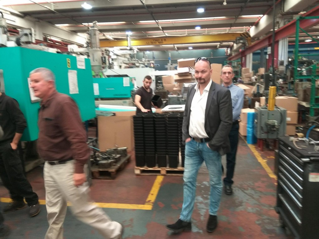 A visit at an Israeli owned factory in Barkan, where Jews and Arabs work together and enjoy the same benefits. (photograph courtesy of David Ha'ivri)