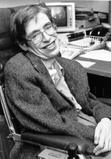 photo of Dr. Stephen Hawking (NASA StarChild image of Stephen Hawking, date unknown - public domain)
