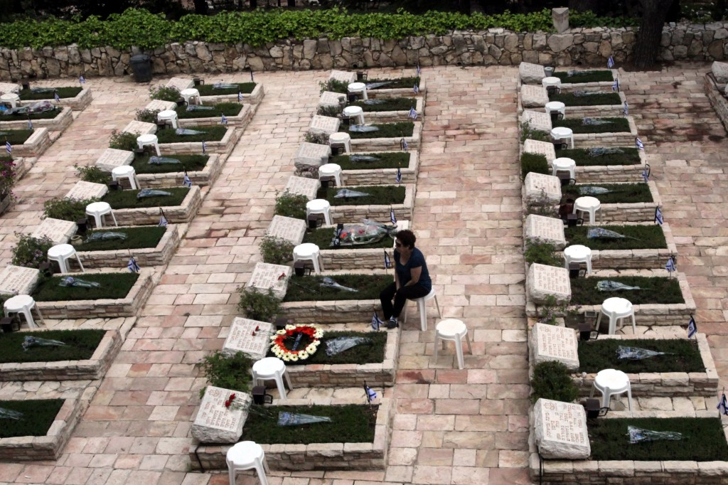 The military cemetery at Mount Herzl