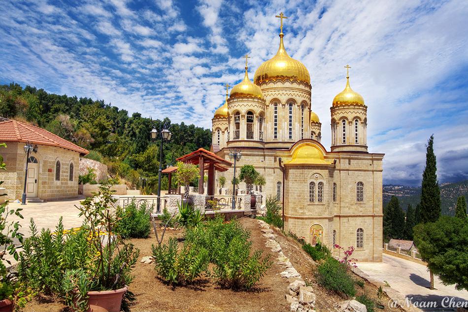 russian church on the hills of ein karen in jerusalem