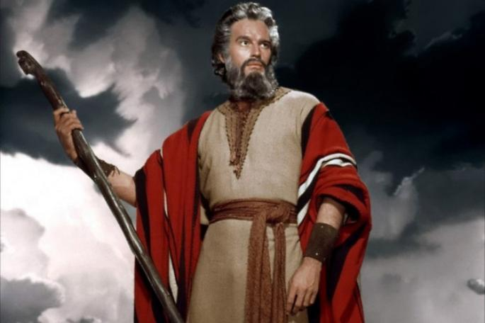 Charlton Heston as Moses from The Ten Commandments (1956) Directed by Cecile B. DeMille