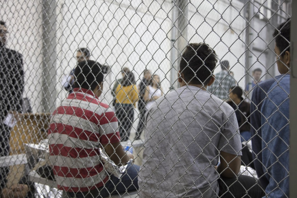 US Border Patrol Agents Conduct The Intake Of Illegal Migrants At The  Central Processing Center In McAllen, Texas, June 17, 2018.