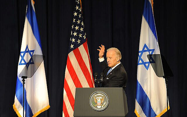 US Vice President Joe Biden gestures during a speech in Tel Aviv university on March 11, 2010. Photo by Gili Yaari / Flash 90 *** Local Caption *** ?'? ????? ??? ???? ????? ????? ?'??? ?????