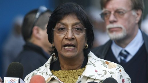 United Nations High Commissioner for Human Rights Navi Pillay (photo credit: Wissam Nassar flash90)