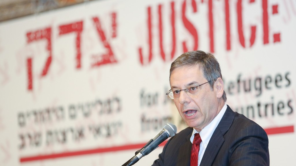 Deputy Foreign Minister Danny Ayalon speaks at the 'Justice for Jewish Refugees from Arab Countries' conference in Jerusalem (photo credit: Oren Nahshon/Flash90)