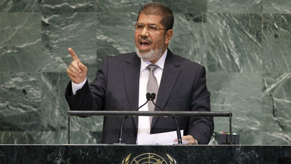 Friend or foe? Neither, apparently. Egyptian President Mohammed Morsi (photo credit: AP/Jason DeCrow)