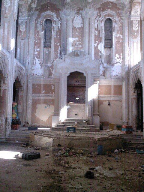 The ruins of the Dar Bishi Synagogue in Tripoli, Libya (photo credit: Courtesy, Meir Kahaolon)