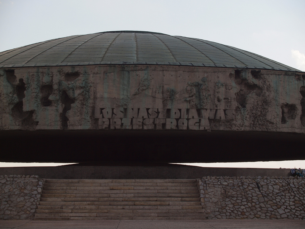 The mausoleum at the Majdanek concentration camp outside Lublin, Poland (photo credit: CC BY-ND Kasia/Flickr)