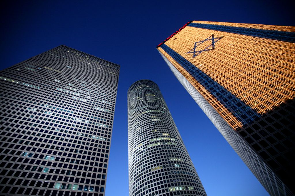 The Azrieli Towers, Tel Aviv, a center of commerce in Israel