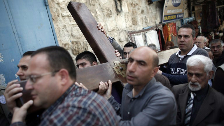 Image result for good friday way of the cross procession jerusalem