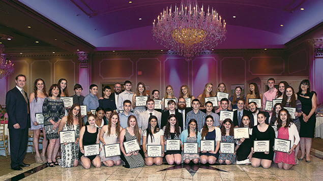 Last year's teen Chabad honorees.